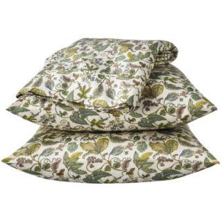 Threshold 325 Thread Count Organic Cotton Sheet Set   Green Botanical (Twin)
