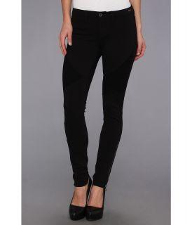 Dittos Stella Low Rise Moto Ponte Womens Casual Pants (Black)