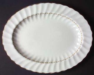 Royal Doulton Adrian 13 Oval Serving Platter, Fine China Dinnerware   Inner Gol