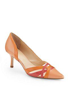 Ivonne dOrsay Leather Pumps   Pink