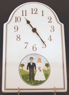 Villeroy & Boch Naif Wedding Hanging Wall Clock, Fine China Dinnerware   Bride &