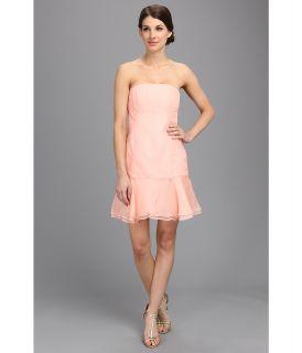Donna Morgan Strapless Silk Organza Womens Dress (Khaki)