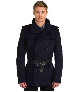 Costume National Trench with Biker Back Mens Coat (Navy)