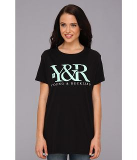 Young & Reckless Core Logo Tee Womens T Shirt (Black)