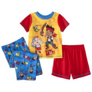 Disney Jake and the Neverland Pirates Toddler Boys 3 Piece Short Sleeve Pajama