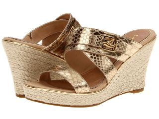 Sperry Top Sider Maris Womens Wedge Shoes (Gold)