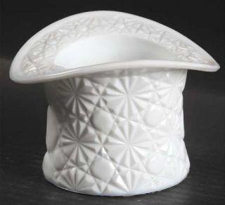Fenton Daisy & Button Milk Glass Top Hat Topper   Line #1900, Milk Glass, Daisy/