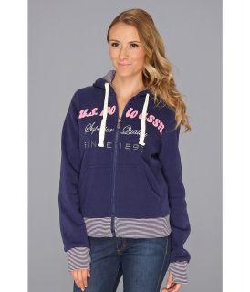 U.S. Polo Assn Logo Chest Hoodie Womens Sweatshirt (Multi)