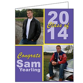 Bold Blocks Graduation Giant Greeting Cards