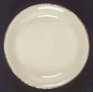Vietri (Italy) Crema Salad Plate, Fine China Dinnerware   Cream Body, Bubbled Gl