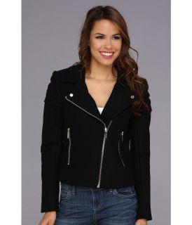 MICHAEL Michael Kors Moto Wool Jacket Womens Coat (Black)