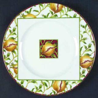 Richard Ginori Melograno Green Dinner Plate, Fine China Dinnerware   Yellow Frui