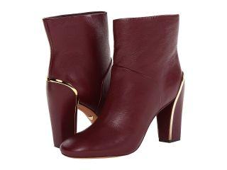 Diane Von Furstenberg Glenda Womens Dress Pull on Boots (Red)