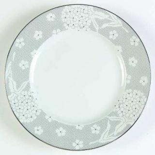 Richard Ginori Silver Dinner Plate, Fine China Dinnerware   Impero, White Floral
