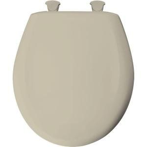 Church 300SLOW 006 Universal Slow Close Round Closed Front Toilet Seat In Bone