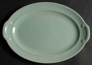 Taylor, Smith & T (TS&T) Luray Pastels Green 11 Oval Serving Platter, Fine Chin