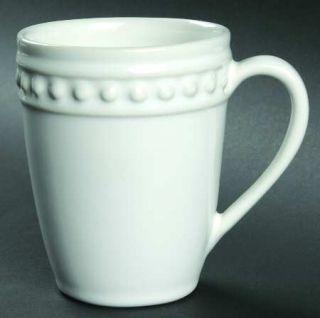 Nancy Calhoun Del Mar Pearl White Mug, Fine China Dinnerware   Off White,Stonewa