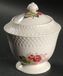 Spode Lady Anne Sugar Bowl & Lid, Fine China Dinnerware   Mansard, Roses Center