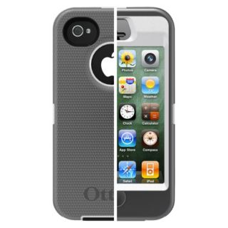 Otterbox Defender Cell Phone Case for iPhone4/4S   White/Gray (77 18579P1)