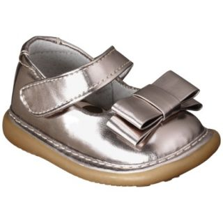 Infant Girls Wee Squeak Triple Bow Mary Jane   Gold 5