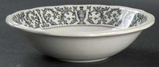 Kensington Staffords Queen Anne Black Rim Cereal Bowl, Fine China Dinnerware   B