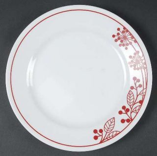 Corning Berries And Leaves Luncheon Plate, Fine China Dinnerware   Red Band & Le