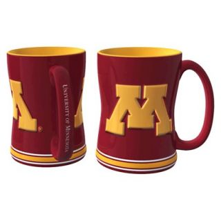 Boelter Brands NCAA 2 Pack Minnesota Golden Gophers Sculpted Relief Style