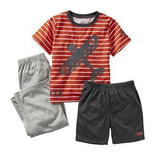 Carters 3 pc. Airplane Pajamas   Boys 12m 24m, Orange/Gray, Boys