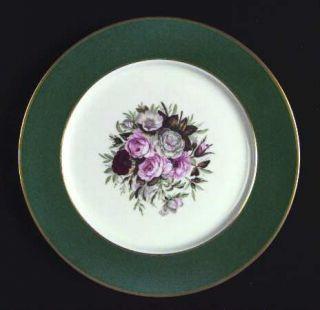 Royal Jackson Countess Lady Lee Dinner Plate, Fine China Dinnerware   Dark Green