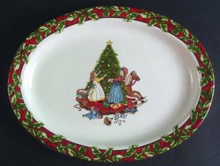 International Christmas Celebration 14 Oval Serving Platter, Fine China Dinnerw