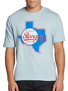 Vintage Inspired Rangers T Shirt   Light Blue