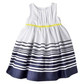 Just One YouMade by Carters Newborn Girls Stripe Dress   White/Navy 3 M