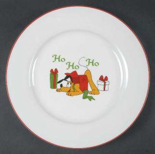 Disney MickeyS Vintage Holiday Dinner Plate, Fine China Dinnerware   Disney Cha