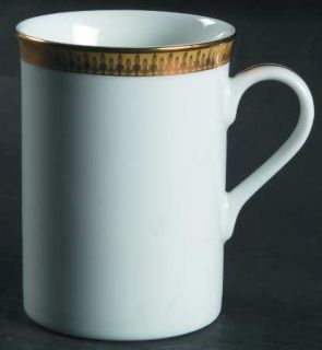 Gorham Lady Anne Signature Gold Mug, Fine China Dinnerware   Gold Leaf Band & Ve