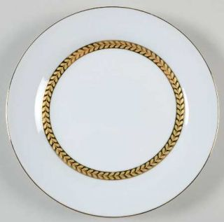 Sabatier Imperial Gold Salad Plate, Fine China Dinnerware   Gold Laurel Band Aro