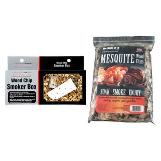 Mr. Bar B Q   Mesquite Wood Chips with Stainless Steel Smoker Box