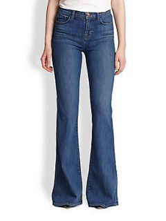 J Brand Valentina High Rise Flared Jeans   Sail