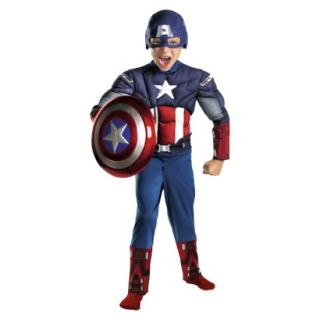 Boys Captain America Avengers Classic Muscle Costume