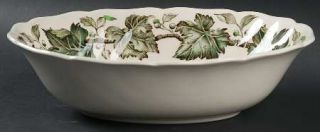 Johnson Brothers Vintage (Cream,Green Ivy& Berries) 9 Oval Vegetable Bowl, Fine