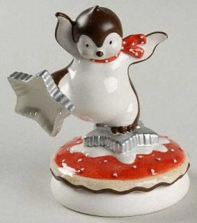Department 56 Hot Cocoa Cookie Mold/Press, Fine China Dinnerware   Penguin,Snowm