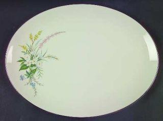 Flintridge True Love No Color Band (Rim) 14 Oval Serving Platter, Fine China Di