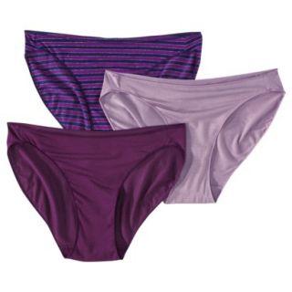 Gilligan & OMalley Womens Ultimate 3 Pack Modal Bikinis   Multicolored Purple