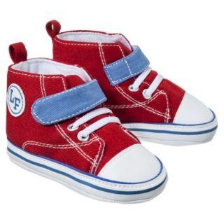 Luvable Friends Infant Boys Hi Top Sneaker   Red 12 18 M