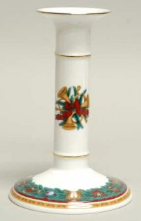 Nikko Christmas Tradition Tall Candlestick, Fine China Dinnerware   Bone,Pine Br