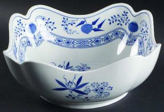 Hutschenreuther Blue Onion (Scalloped, Rim) 9 Square Vegetable Bowl, Fine China