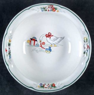 International Country Christmas Coupe Cereal Bowl, Fine China Dinnerware   Chris