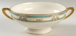 Lenox China Monticello (Older Green) Large Berry Bowl, Fine China Dinnerware   T