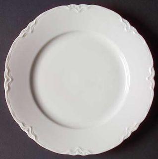 Hutschenreuther Racine (All White) Salad Plate, Fine China Dinnerware   White, E