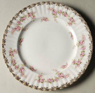 Royal Albert Dimity Rose (Gold Floral Edge) Dinner Plate, Fine China Dinnerware