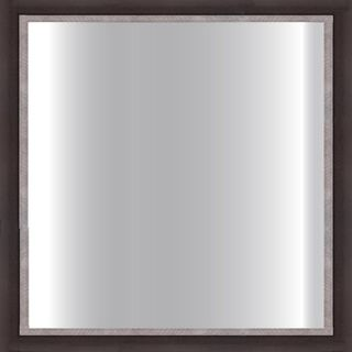 Dark Brown Framed Square 24 inch Glass Mirror (Dark brown/ pewter lipDimensions 24 inches x 24 inches  )